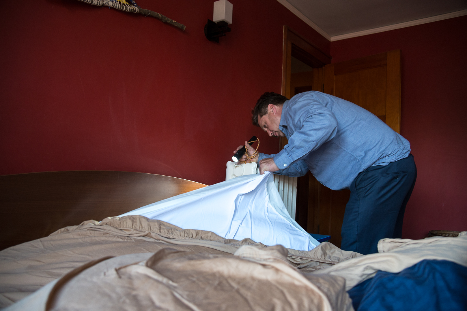 Checking for Bed Bugs - Bed Bug Guys